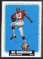 autographed 1964 topps bo roberson