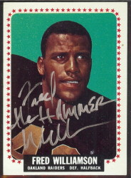 autographed 1964 topps fred williamson