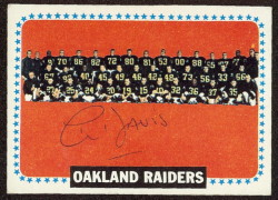 autographed 1964 topps raiders team
