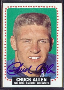 autographed 1964 topps chuck allen