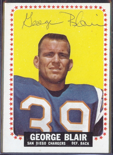 autographed 1964 topps george blair