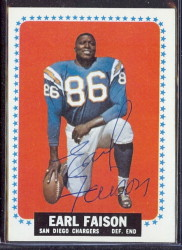autographed 1964 topps earl faison
