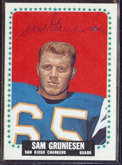 autographed 1964 topps sam gruneisen