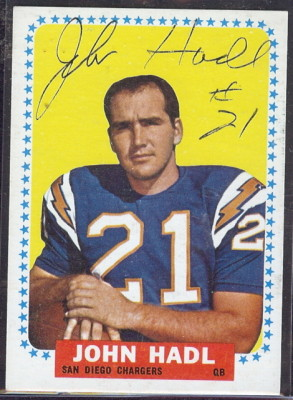 autographed 1964 topps john hadl