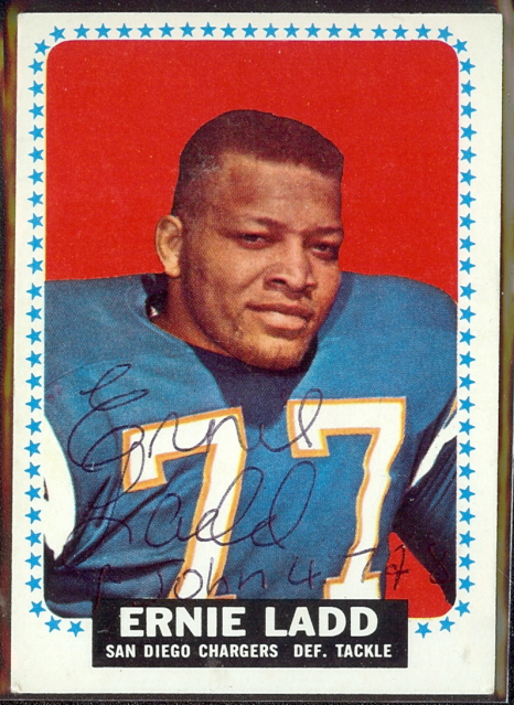 autographed 1964 topps ernie ladd