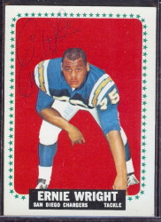 autographed 1964 topps ernie wright