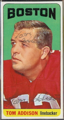 autographed 1965 topps tom addison