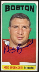 autographed 1965 topps nick buoniconti