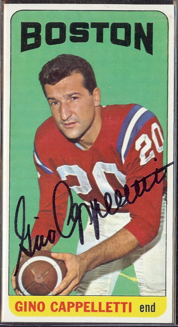 autographed 1965 topps gino cappelletti