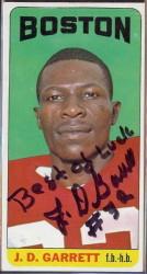 autographed 1965 topps jd garrett