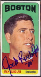 autographed 1965 topps jack rudolph
