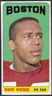autographed 1965 topps don webb