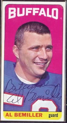autographed 1965 topps al bemiller