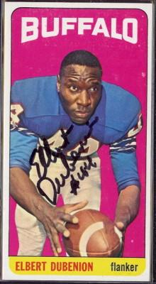 autographed 1965 topps elbert dubenion