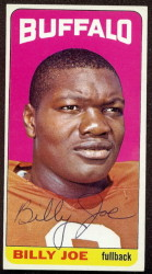 autographed 1965 topps billy joe