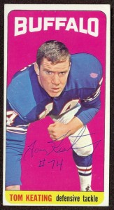 autographed 1965 topps tom keating