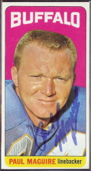 autographed 1965 topps paul maguire