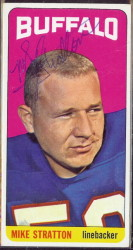autographed 1965 topps mike stratton