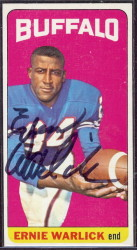 autographed 1965 topps ernie warlick