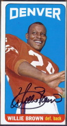 autographed 1965 topps willie brown