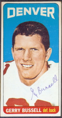 autographed 1965 topps gerry bussell