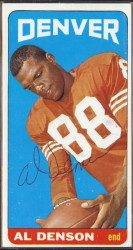 autographed 1965 topps al denson