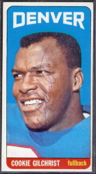 autographed 1965 topps cookie gilchrist