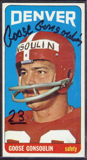 autographed 1965 topps goose gonsoulin