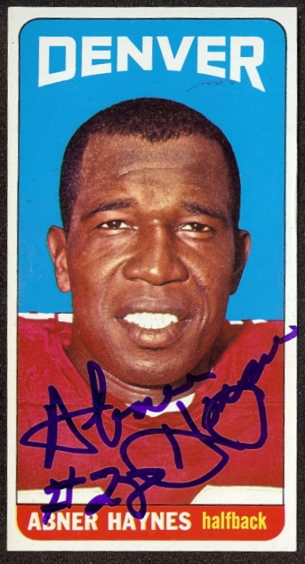autographed 1965 topps abner haynes
