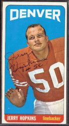 autographed 1965 topps jerry hopkins