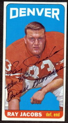 autographed 1965 topps ray jacobs