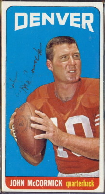 autographed 1965 topps john mccormick