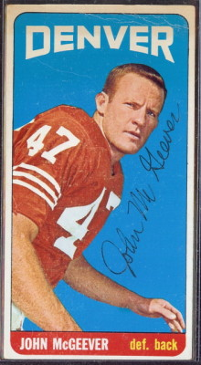 autographed 1965 topps john mcgeever