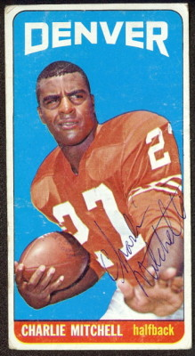 autographed 1965 topps charlie mitchell