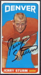 autographed 1965 topps jerry sturm