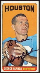 autographed 1965 topps george blanda