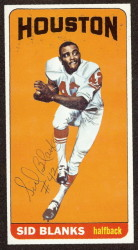 autographed 1965 topps sid blanks