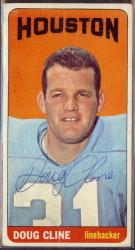 autographed 1965 topps doug cline
