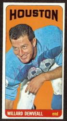 autographed 1965 topps willard dewveall
