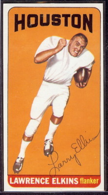 autographed 1965 topps lawrence elkins
