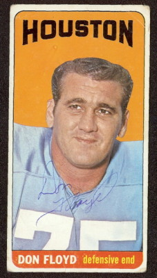 autographed 1965 topps don floyd