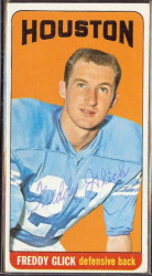 autographed 1965 topps freddy glick