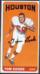 autographed 1965 topps tom goode