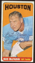 autographed 1965 topps bud mcfadin