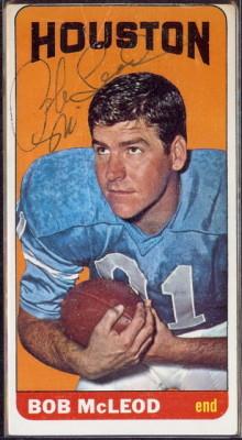 autographed 1965 topps bob mcleod
