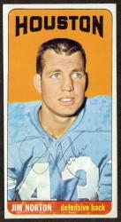 autographed 1965 topps jim norton