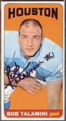 autographed 1965 topps bob talamini