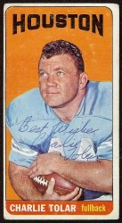 autographed 1965 topps charlie tolar