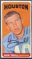 autographed 1965 topps don trull