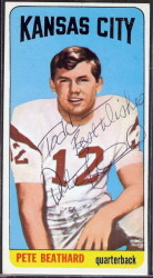 autographed 1965 topps pete beathard